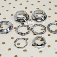 Tioga Beartrap Headset Chrome vintage bmx headparts made in Japan old school bmx parts library