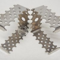 JP Pro Square Pedal Cages Polished-Raw. old school bicycle motocross website