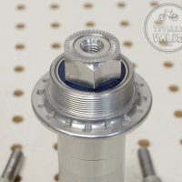 Paul Word Single Speed Rear Hub 32h Silver 32 hole SS -USA- Wacky One-speed Rear Device