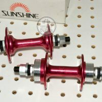 Sunshine Bicycle Motocross Hubs 36 hole anodized Red, old school bmx