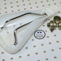 GT Freestyle Seat Viscount 2188 White, vintage bmx