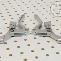Paul Love V-brake Levers Anodized Silver - old bmx parts