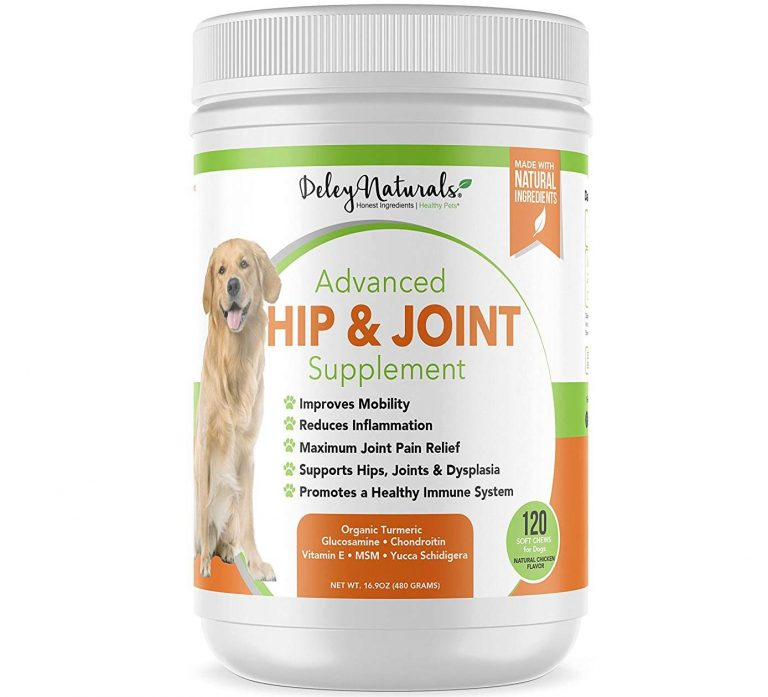 Glucosamine for Dogs - Advanced Arthritis Pain Relief for Dogs - Chondroitin, MSM & Organic Turmeric