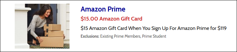 amazon prime discount free gift card
